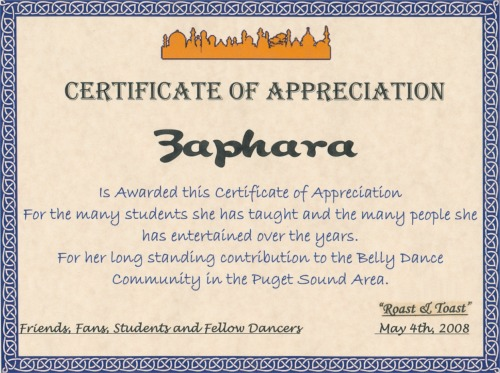 Zapharas middle eastern dance testimonials bessma zaphara at the roast toast yadclub Choice Image